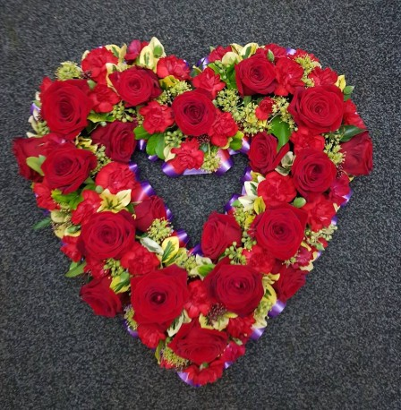 open Red heart