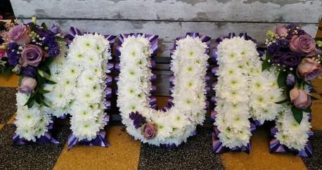 Purple Mum Lettering
