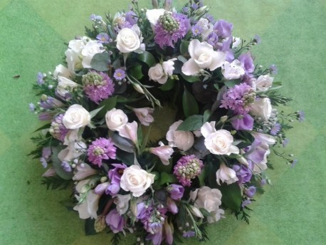Lilac and white wreath
